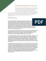 La interconexión en telecomunicaciones en Venezuela