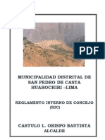 Reglamento Interno de Concejo