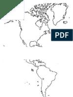 Dibujo de Mapa Mundi