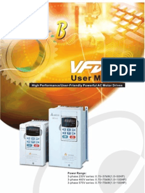 Delta Vfd B Manual Alternating Current Power Inverter
