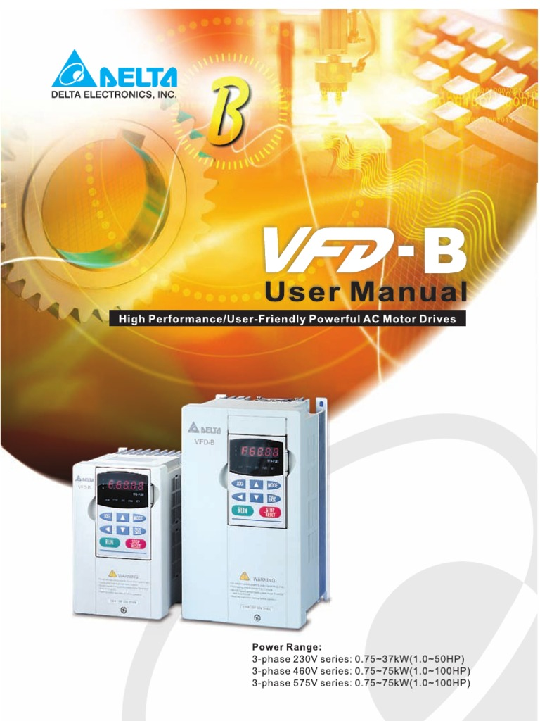 Delta Vfd B Manual Alternating Current Power Inverter