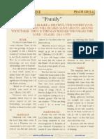 """Psalm 128 v3-4, """"Family"""""""