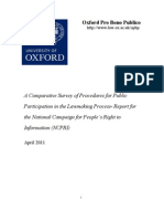 A Comparative Survey of Public Participation in the Legislative Process
