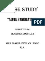 pancreatitis case study scribd