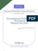 Investigating Children's Emerging Digital Literacies 2002