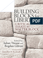 Building Blocks for Liberty Walter Block
