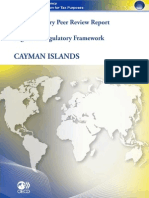 Supplementary Peer Review Report Phase 1 Legal and Regulatory Framework - Cayman Islands