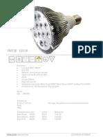 Lampe PAR 38 12x1w E27 1403 Hexagone Innovation
