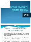 Intellectual Property Right Laws India