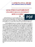 National Freedom Force,s of Burma(NFFB)Statement Response letter to U Thein Sein