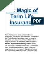 The Magic of Term Life Insurance