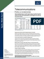 Telecom Politics vs Fundamentals April 2011