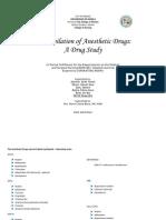Drug Study - Anesthestics....