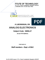 06ESL37 Analog Electronics Lab MANUAL