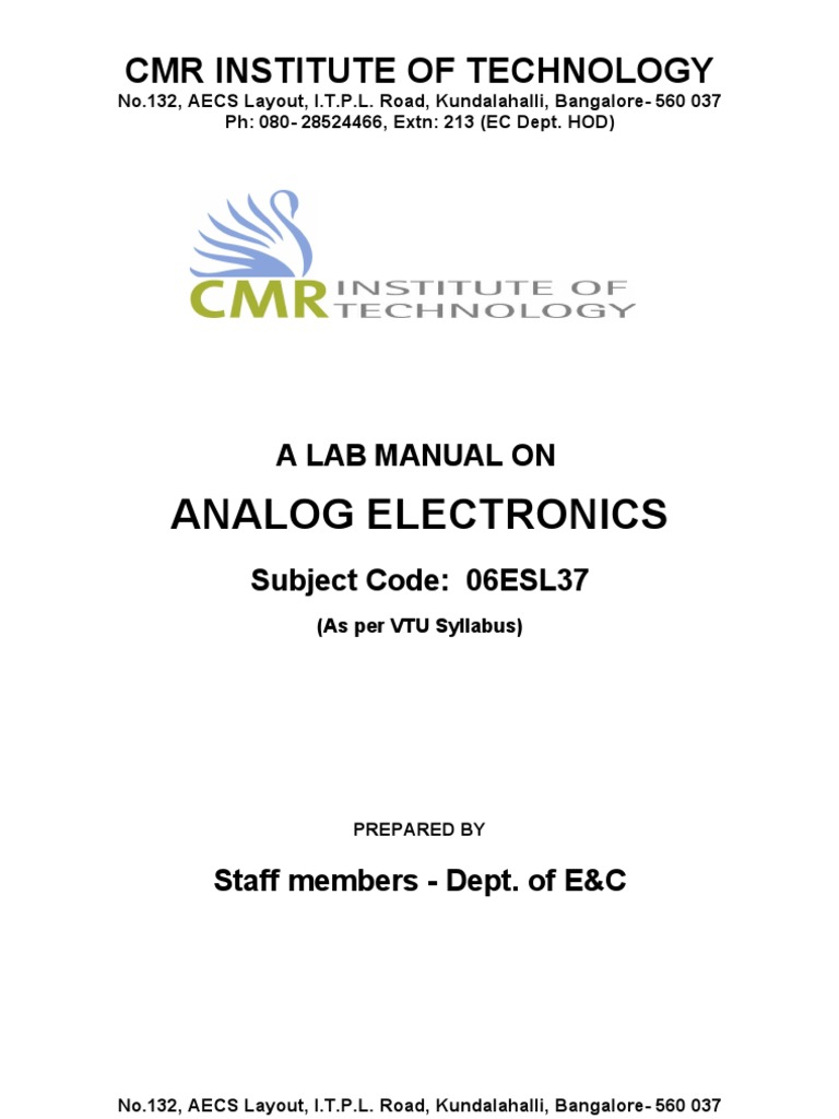 06esl37 Analog Electronics Lab Manual Amplifier Rectifier Circuitlab Constant Current Source 04 Ma