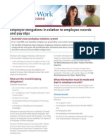 Employer Obligations in Relation to Employee Records and Pay Slips