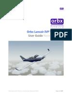 Orbx Lancair IVP User Guide