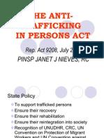 The Anti-trafficking Law RA 9208
