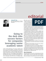 Dark Side of Managing Senior Talent
