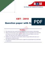 CET 2010 Chem Paper+Keys