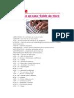 Teclas de acceso rápido de Word
