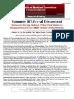 Summer Of Liberal Discontent
