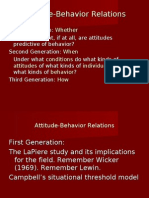 Attitude Behavior Relations com