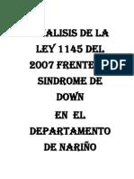 V C - Análisis de la ley 1145 de 207 síndrome de down en Nariño