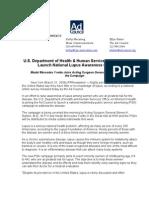 National Lupus Awareness Press Release