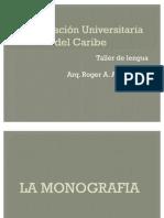 EXPOCISION DE MONOGRAFIA