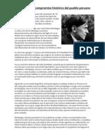 Mariátegui y el compromiso histórico del pueblo peruano