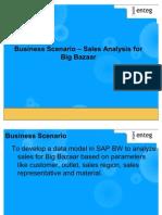 Sales Analysis - Big Bazaar (SAP BW)