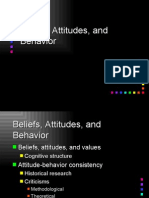 Beliefs,Attitude and Behaviour