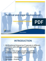 Political and Legal Environment