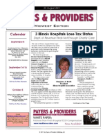 Payers & Providers Midwest Edition – Issue of August 23, 2011