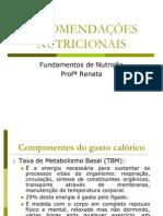 RECOMENDAÇÕES NUTRICIONAIS - aula