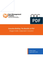 OGC Executive Briefing Benefits of ITIL