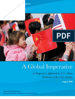 A Global Imperative---A Progressive Approach to U.S.-china Relations in the 21st Century