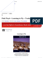 Pink Floyd – Learning to Fly – Traduzione – Testo | Fidicaro