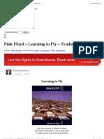 Pink Floyd – Learning to Fly – Traduzione – Testo   Fidicaro