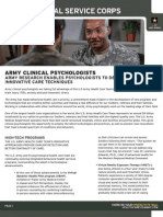 Army Clinical Psychologists