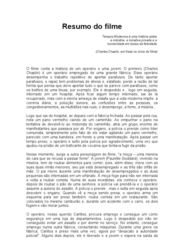 MODERNOS O CHAPLIN TEMPOS BAIXAR CHARLIE FILME