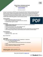 OIS IPA Position Announcement 2011