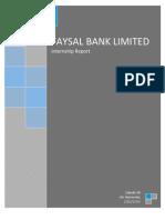 Internship Report Fayal Bank