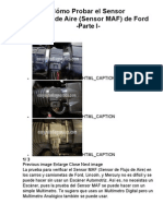 Cómo Probar el Sensor MAF (flujo de aire) de Ford