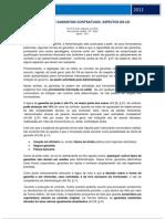 LICITAÇÕES E GARANTIAS CONTRATUAIS -  ASPECTOS DA LEI