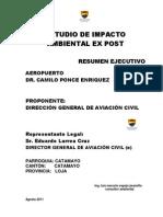 Resumen Ejecutivo Proyecto Aeropuerto Catamayo