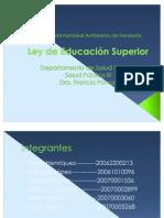 Ley de Educacion Superior 4TA PASANTIA 2011l