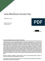 2010 Black Stone Investor Day