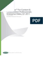 Enterprise Video, Q1 2011
